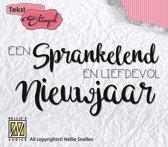 Stempel Nederlandse Tekst - Sprankelend nieuwjaar