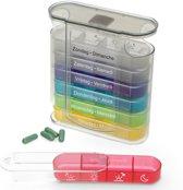 Fysic FC-53 Pillendoos - 7 doosjes voor iedere dag van de week - transparant met dag-doosjes