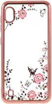 Transparante Samsung Galaxy A10 Hoesje met Bloem Print