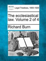 The Ecclesiastical Law. Volume 2 of 4