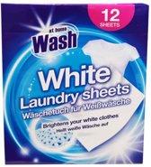 At Home Wash - Kleurdoekjes - Witte was -  12 Wasbeurten