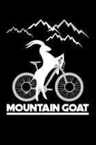 Mountain Goat: Lined A5 Notebook for Bicycle Journal