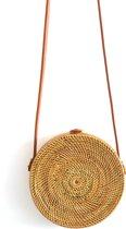 Rattan tas | Bali Bag 20 cm| Rieten tasje | Roundie Bag | Handgeweven