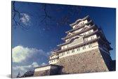 Het historische kasteel Himeji in Japan Aluminium 120x80 cm - Foto print op Aluminium (metaal wanddecoratie)