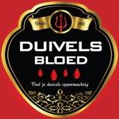 Halloween Flessen etiket duivels bloed