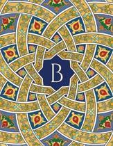 Monogram B Sketchbook: Blank Art Pad Notebook Jounal
