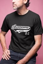 65 jaar Awesome Since 1954 / Kado Tip / Verjaardag Shirt / Heren / Dames / Maat XL