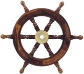 Stuurwiel Hout - Decoratief & Echt gebruik - Stuurwiel Boot - Diameter 45 cm