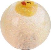 Toi-toys Stuiterbal Glitter Met Licht Oranje 7 Cm
