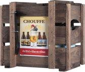 La Chouffe Bierpakket - Kistje 4 stuks + Glas