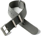 Chibuntu® horloge band - Nato Strap - Grijs - 22 mm