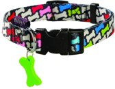 Bobby halsband voor hond carnaval 25-40x1,6 cm