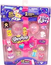 Shopkins Speelfiguren 12 pack - Reeks 7 Feest