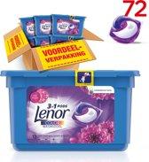 Lenor 3in1 PODS Amethist & Bloemen - Voordeelverpakking 6x12 wasbeurten - Wasmiddel capsules