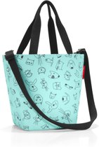 Reisenthel Shopper XS Kids Schooltas - Maat XS - Kind - Polyester - 4 L - Cats&Dogs Mint