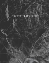 Sketchbook: Artist's Notebook for Drawing, Designing, Sketching and Writing. Large 8.5 x 11 size, 120 blank pages. Black Marble Mo