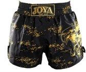 Joya Dragon Kickboks Broekje - Zwart - Goud-XXS
