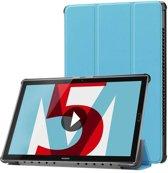 Huawei MediaPad M5 10.8 inch - Tri-fold Book Case - Licht Blauw