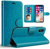 Chique Lederen hybride beschermhoes voor iPhone 7 | 8  blauw