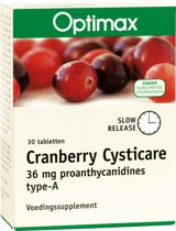 Optimax Cranberry Cysticare Slow Release 30 tabletten