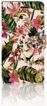 Samsung Galaxy A7 2017 Bookcase hoesje Flowers