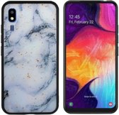 BackCover Marble Glitter voor Samsung A2 Core Blauw