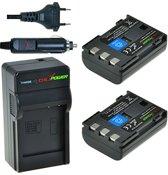 ChiliPower NB-2LH Canon Kit - Camera Batterij Set