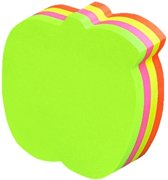 Info Notes - shaped sticky notes - 70x70mm - appel - assorti - 200 vel