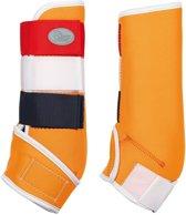 Beenbeschermers Country oranje/rood/wit/blauw m