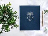 Partydeco Gastenboek Always & Forever - blauw/ivoor