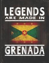 Legends Are Made In Grenada: Customized Gift for Grenadian Coworker Undated Planner Daily Weekly Monthly Calendar Organizer Journal