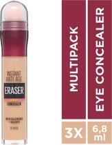 Maybelline Eraser Eye Concealer - Nude - 3 stuks Voordeelverpakking