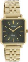 OOZOO Vintage C9956 Goudkleurig Zwart Horloge 29x29mm