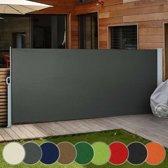 Trend24 - Uittrekbaar zonne - windscherm - 180 x 300 cm - Antraciet