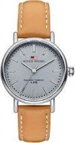 River Woods RW340013 Oswego horloge Vrouwen - Bruin - Leer 34 mm