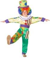 Kleurrijke clown kostuum voor jongens - Verkleedkleding - 104/110