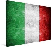 Afbeelding van de vlag van Italië Canvas 90x60 cm - Foto print op Canvas schilderij (Wanddecoratie woonkamer / slaapkamer)