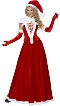 Luxe kerstvrouwpak Miss Santa - verkleedkleding- maat M (40-42)