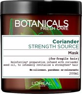 L'Oréal Paris Botanicals Coriander Strength Source Haarmasker - 200 ml - Kwestbaar Haar