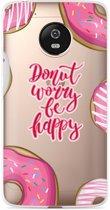 Motorola Moto G5 hoesje Donut Worry