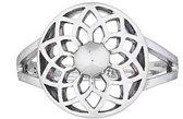 Lily flower ring - 925 zilver - maat 16.00 mm / maat 50