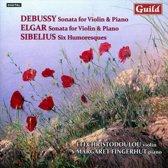 Christodoulou,Efi/Fingerhut,Margare - Debussy/Elgar Violinsonaten