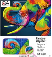 DIAMOND PAINTING CDA RAINBOW ELEPHANT 27X38CM