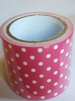masking tape Roze met Stippen L - decoratie washi papier tape - 48 mm x 4 m
