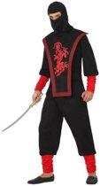 Ninja vechters verkleed kostuum voor heren - carnavalskleding - voordelig geprijsd XL