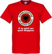 Albanië Slogan Logo T-Shirt - L
