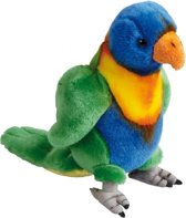 Pluche regenbooglori papegaai 20 cm