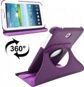 Paarse 360 graden draaibare tablethoes Galaxy Tab 3 7.0 P3200/T210