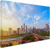 FotoCadeau.nl - Skyline Peking Canvas 80x60 cm - Foto print op Canvas schilderij (Wanddecoratie)