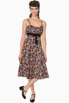 Banned Flare jurk -XL- BROOKE Zwart